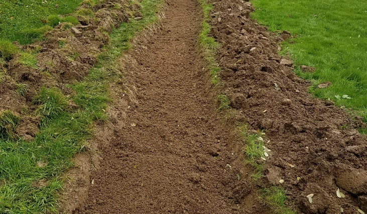Preparing land for planting with double digging
