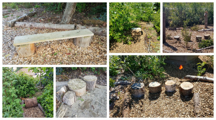 Create outdoor sit spots on your homestead