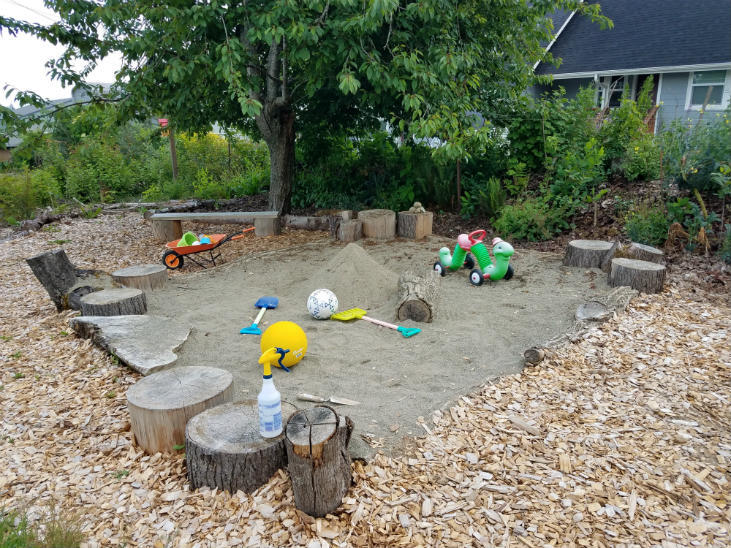 Use woody debris for play structures